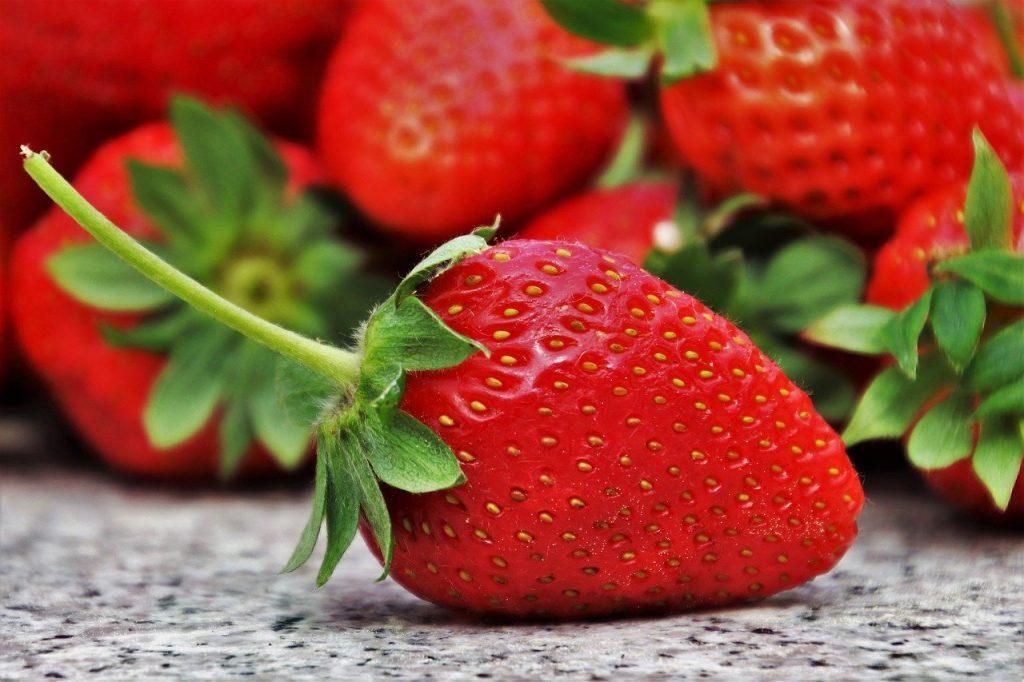 fresa fruta de primavera